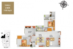 TYPE-C-2BHK-1155-SQFT