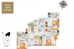 TYPE-D-3BHK-1490-SQFT