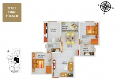 TYPE-E-2BHK-1105-SQFT
