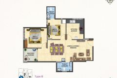 TYPE-B-2BHK-1055-SQFT