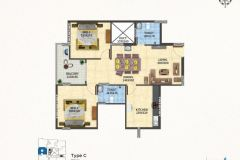 TYPE-C-2BHK-990-SQFT