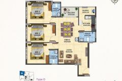 TYPE-D-3BHK-1530-SQFT