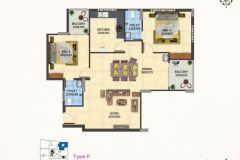 TYPE-F-2BHK-1215-SQFT