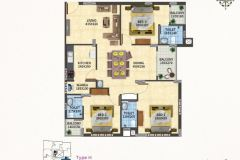 TYPE-H-3BHK-1540-SQFT