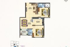 TYPE-J-2BHK-1190-SQFT